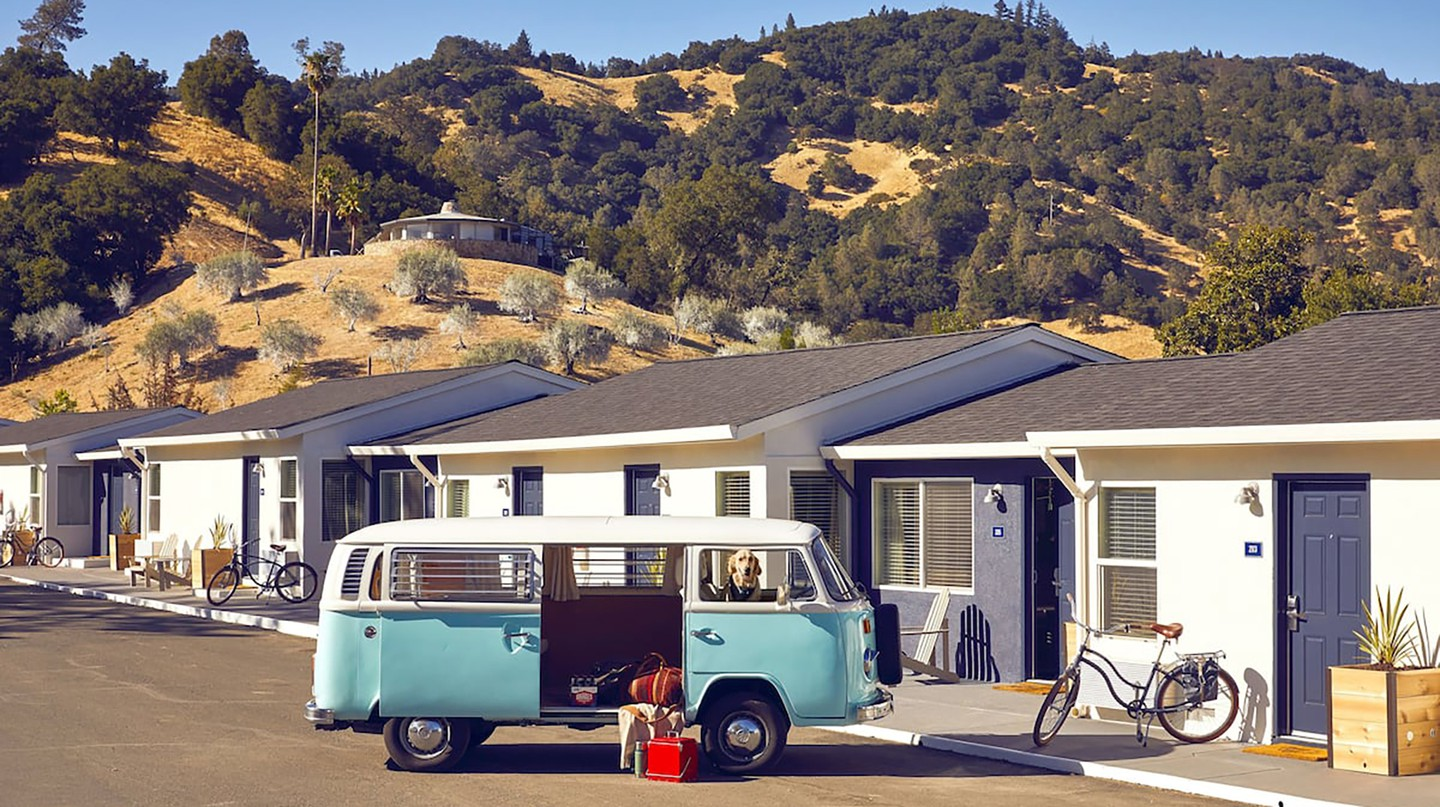 Go for the full retro experience by hiring a VW campervan