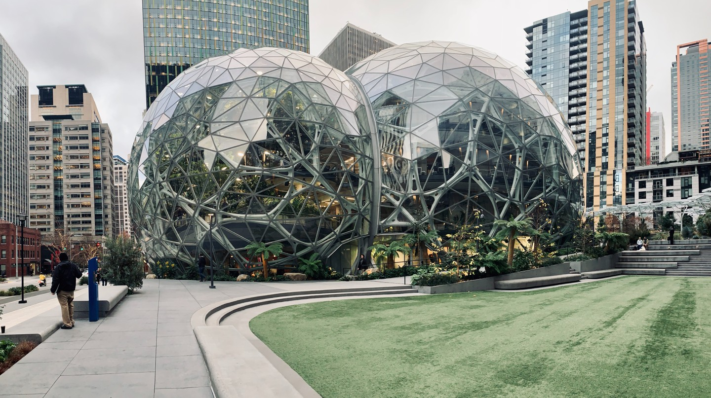The Spheres are part of the Amazon company and offer weekend tours