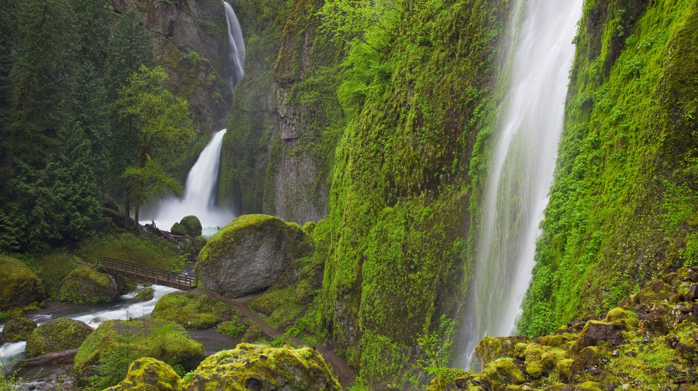 Wahclella Falls in the Columbia River Gorge National Scenic Area is simply enchanting