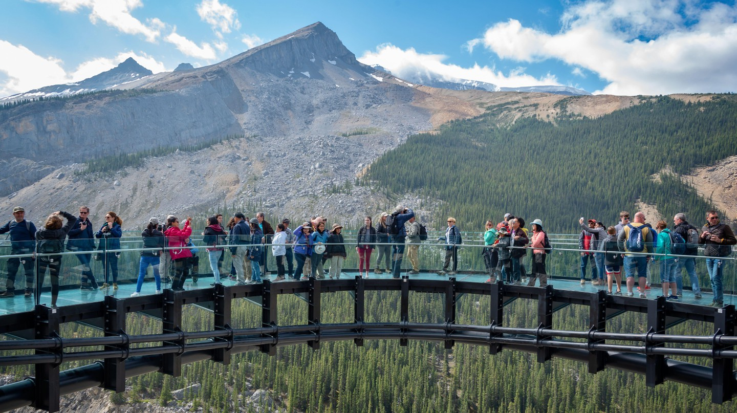The Columbia icefields Skywalk in Jasper National Park is a thrilling way to spend a day