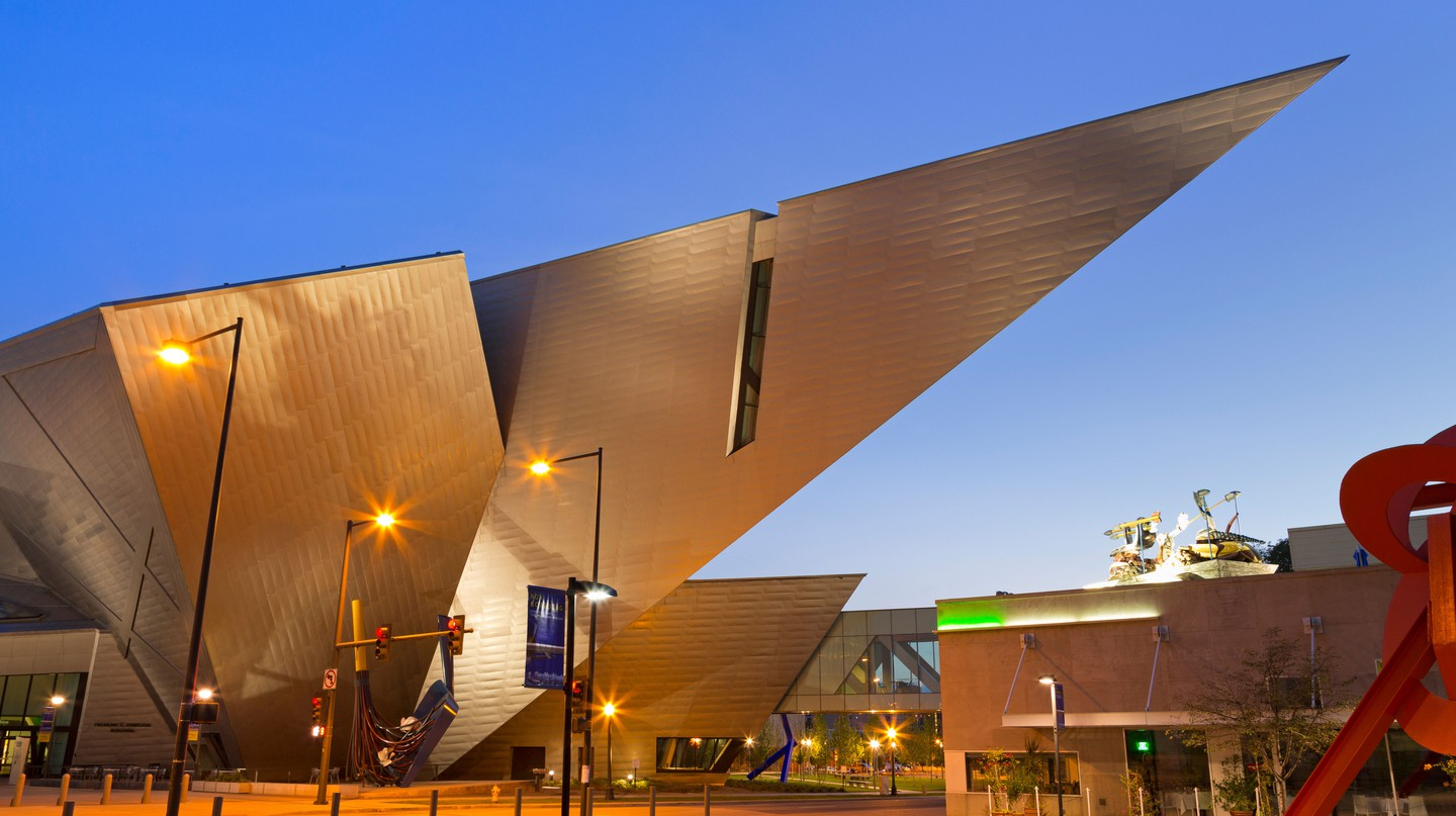 The dramatic entrance to Denver Art Museum was inspired by the jagged angles of the Rockies
