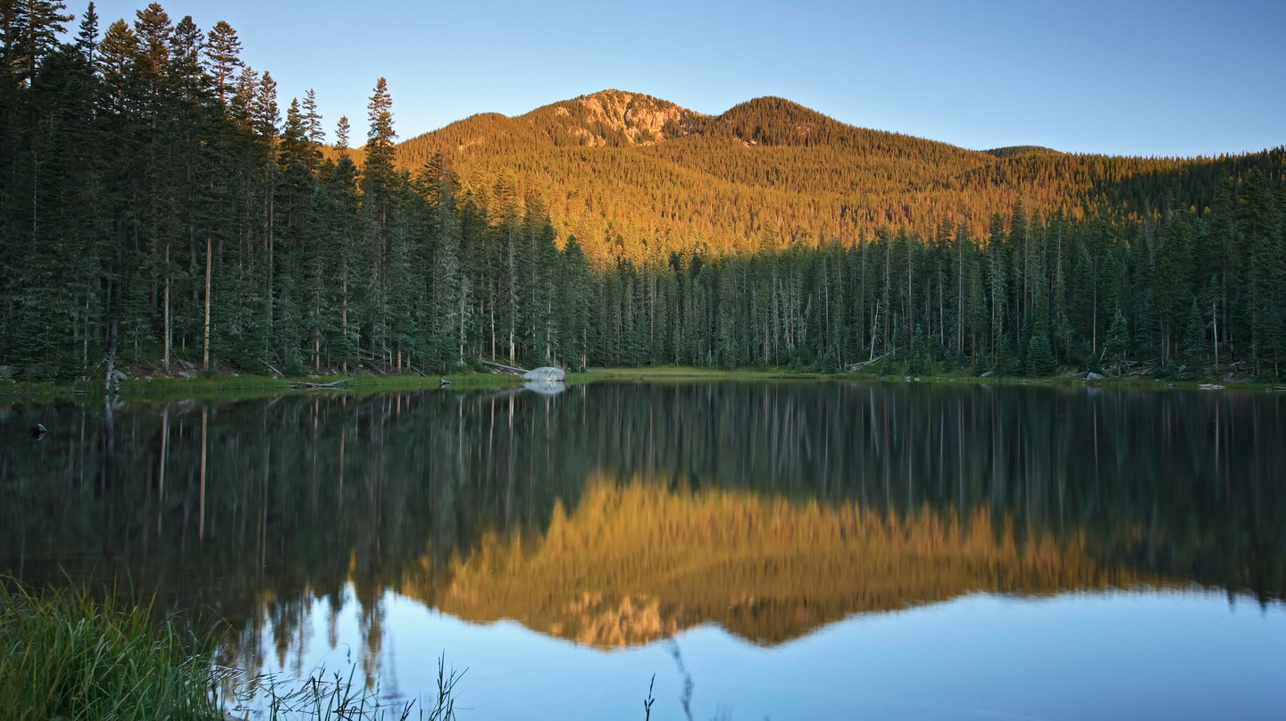 Stewart Lake is just one example of the beautiful scenery New Mexico has to offer