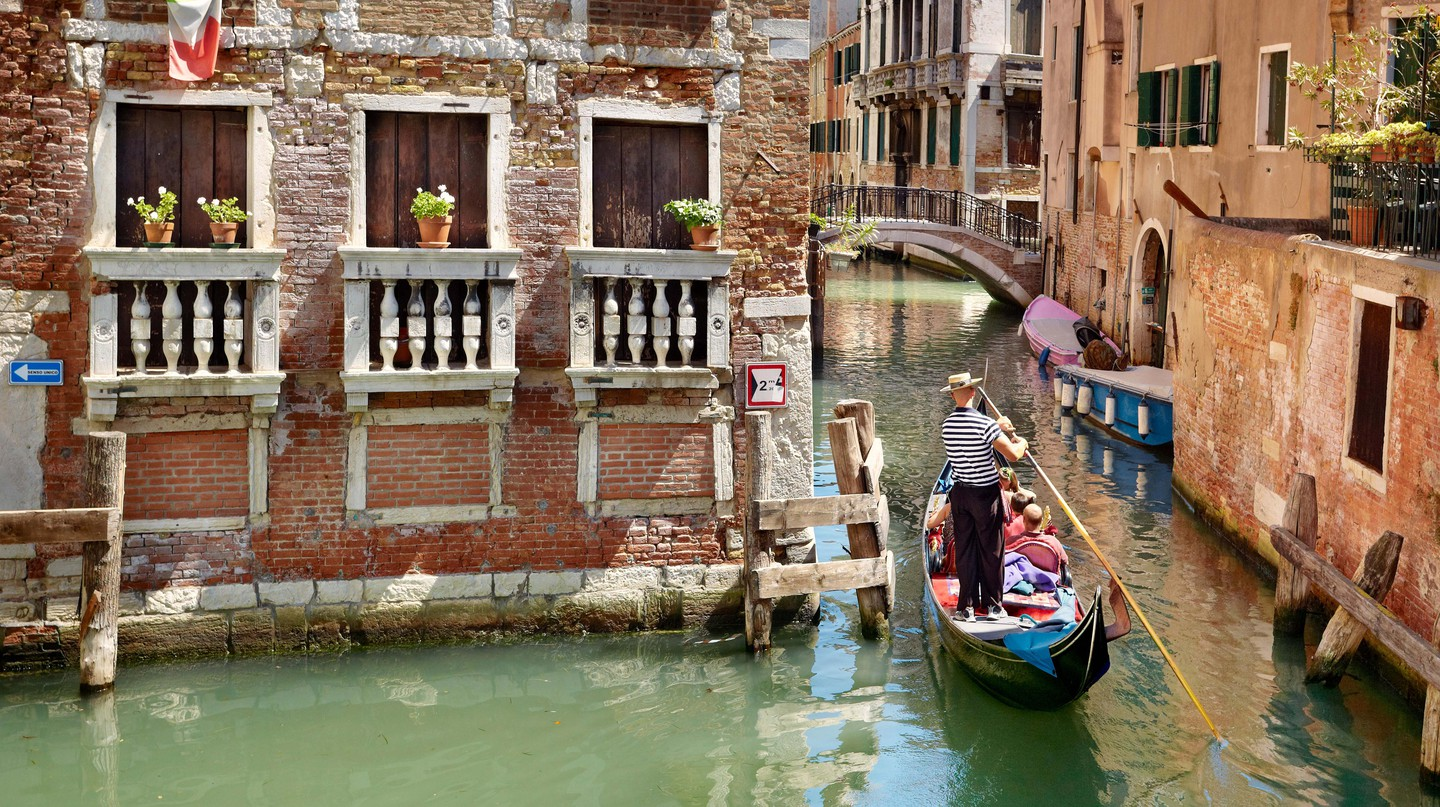 Gondolas are a constant presence in Venice's canals