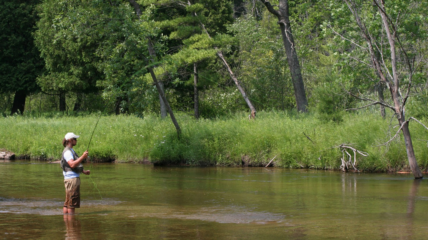 Michigan's rustic rivers and lakes are hotspots for fly fishing