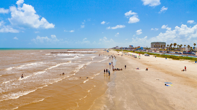 Stewart Beach in Galveston is a popular family-friendly destination