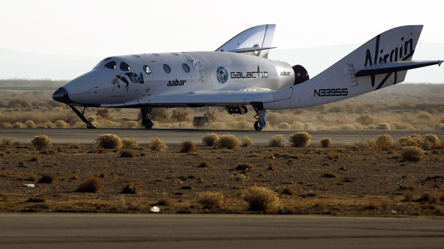 The world's first commercial spaceship lands in the Mojave desert after successfully completing its third supersonic test flight