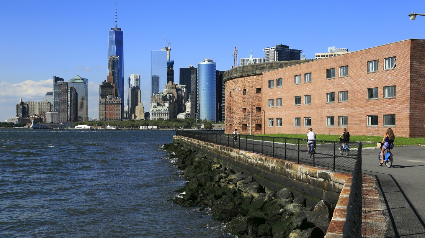 Governors Island makes for a family-friendly bike ride