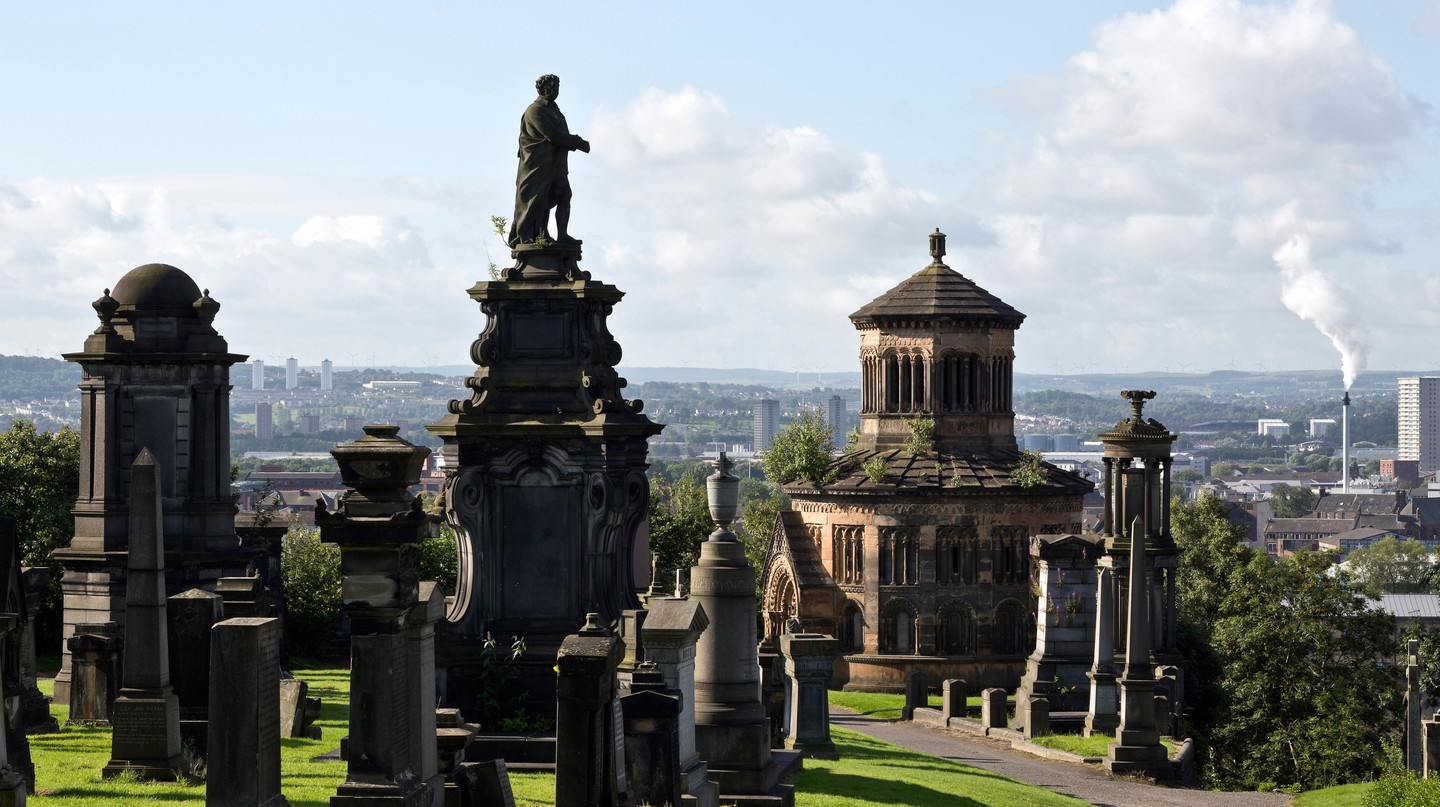Leave the bustling city centre behind to explore Glasgow's Necropolis