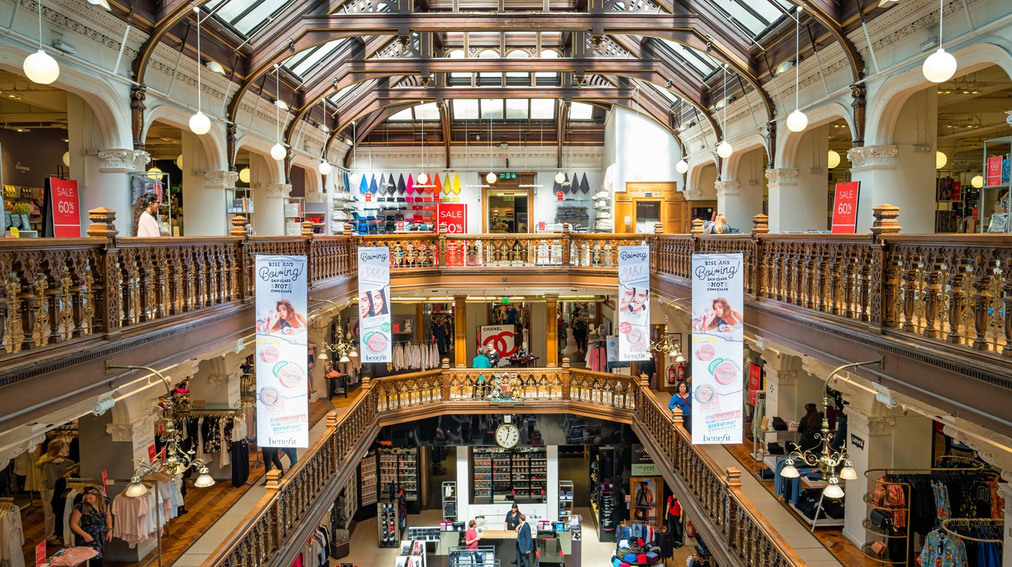 The Victorian-era Jenners Department Store in downtown Edinburgh