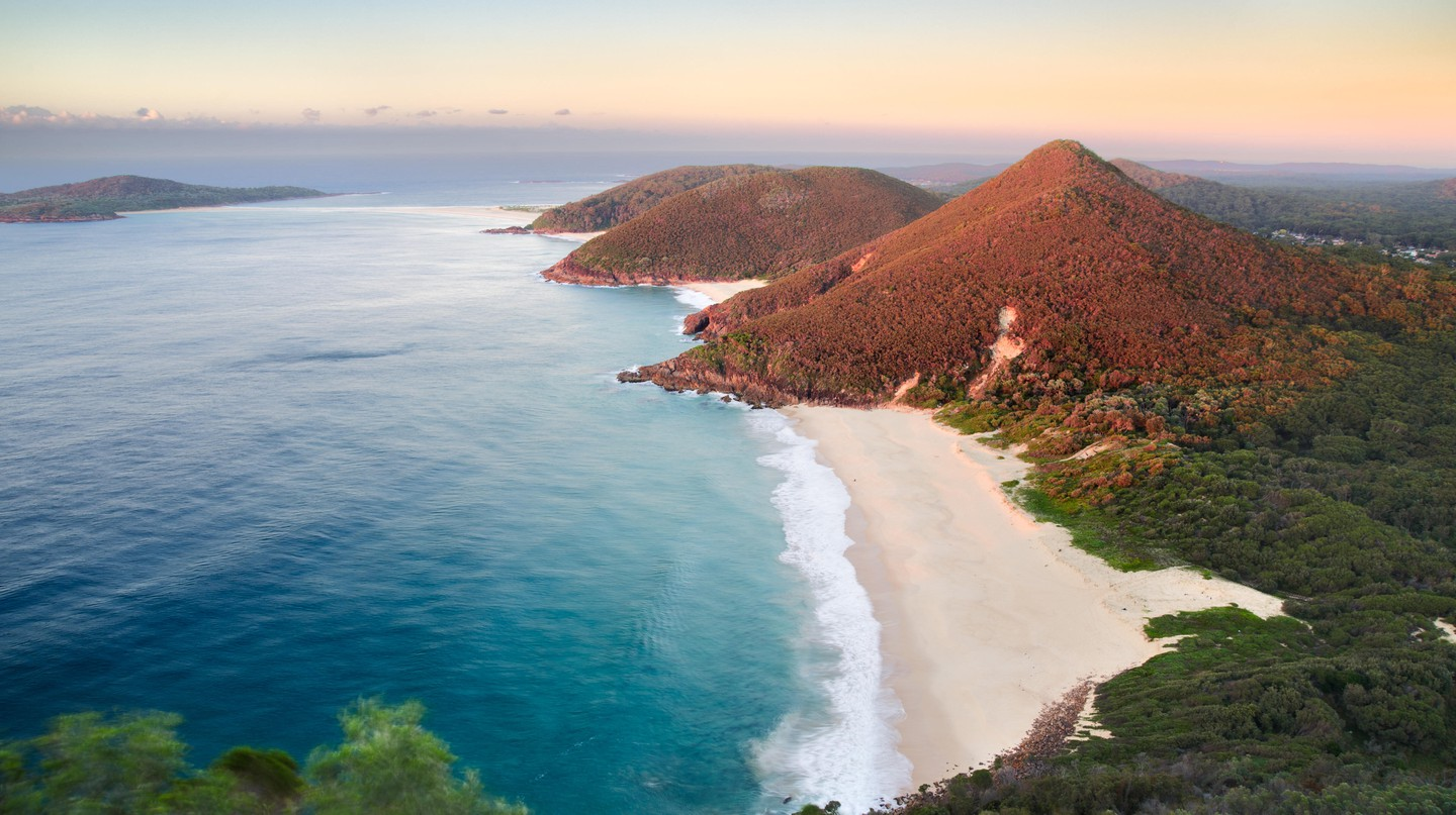 The views from Mount Tomaree are some of Port Stephens' best