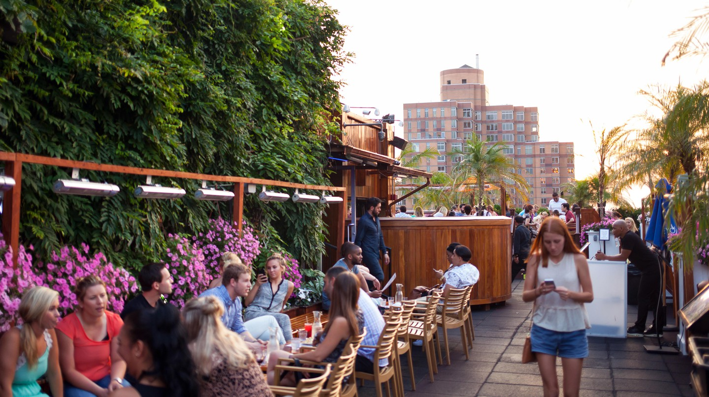 Start your night at the 230 Fifth rooftop bar