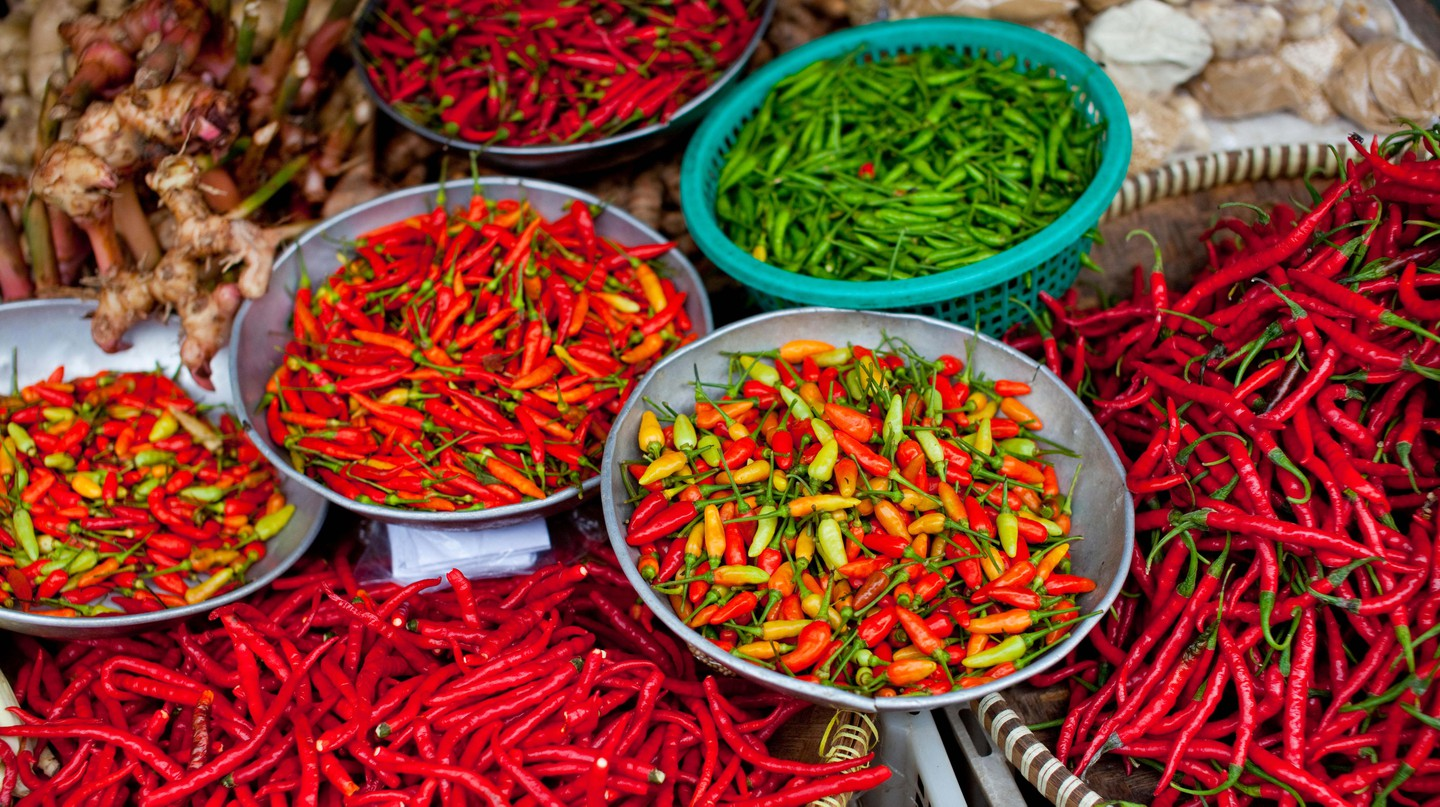 There are over 4,000 types of chillies from around the world