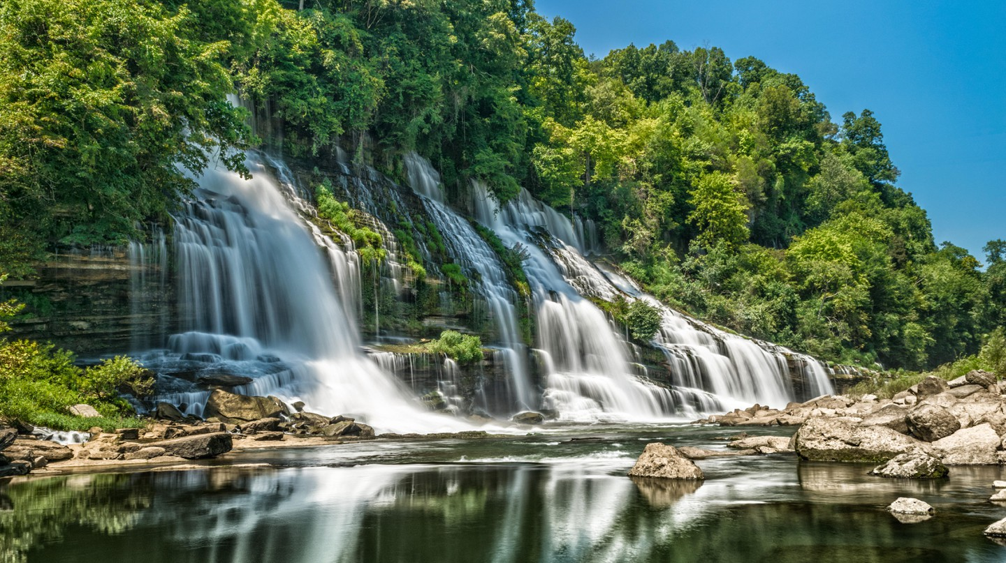 Twin Falls waterfall, in Rock Island State Park, is one of many stunning cascades in the area worth a visit