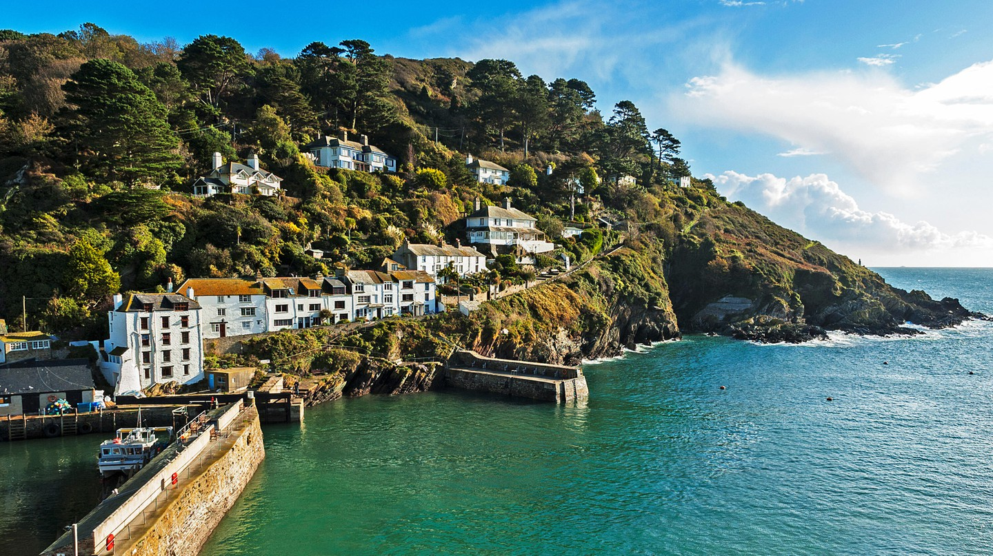 The entrance to the harbour at Polperro in Cornwall is one of the most Instagram-worthy spots in the UK