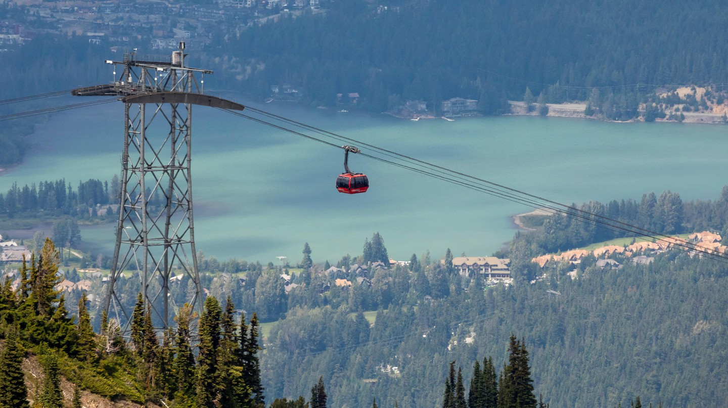 The Peak 2 Peak Gondola in Whistler, Canada, is the world's largest and highest lift