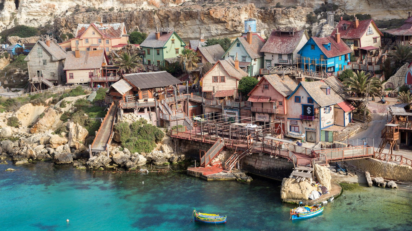 Originally built as a film set, Popeye Village is now a tourist attraction in Malta