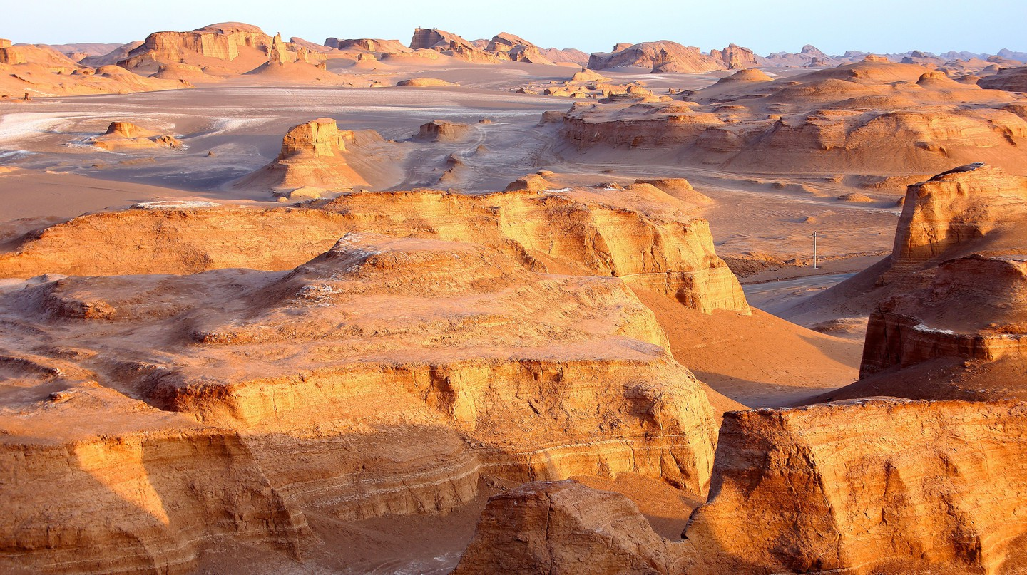 Dasht-e Lut, in Iran, has recorded the highest ground temperatures on the planet