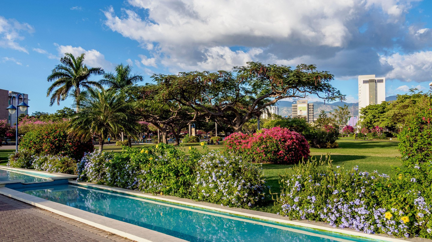 Emancipation Park is an oasis of lush greenery and serenity in Kingston