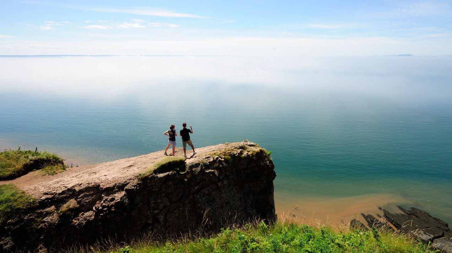 The endless view from Cape Split on the Bay of Fundy