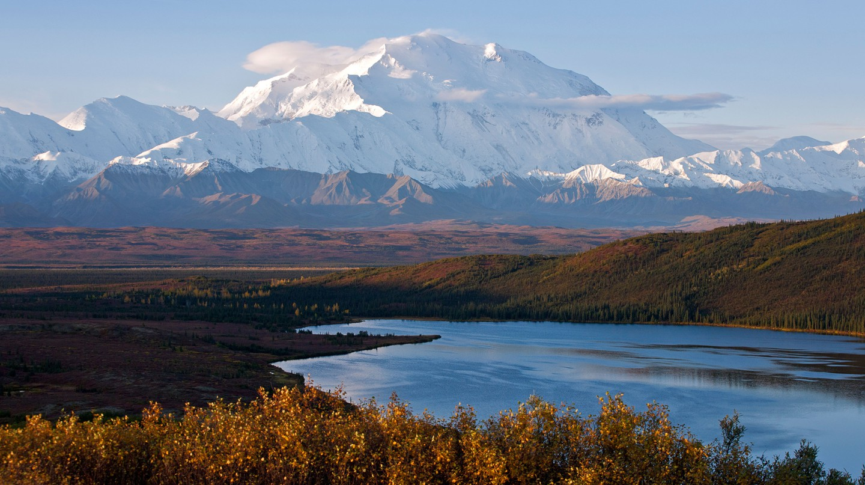 Denali National Park's Mount McKinley dominates this stunning Alaskan wilderness worth visiting