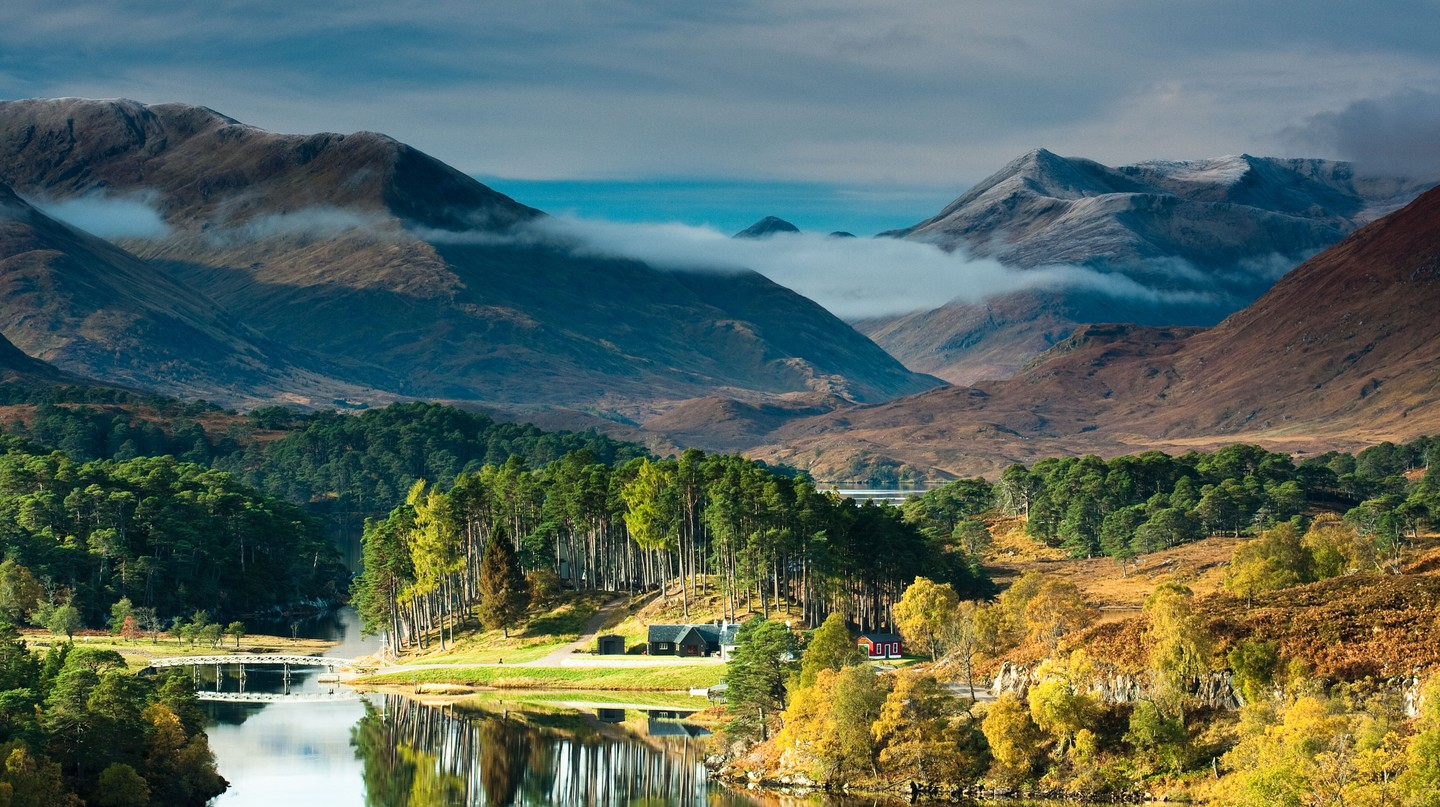 Glen Affric, in Scotland, is one of the UK's most beautiful forests, especially in autumn