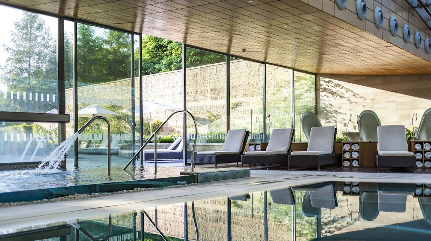 The perfect setting for a luxurious dip at the Lucknam Park Hotel
