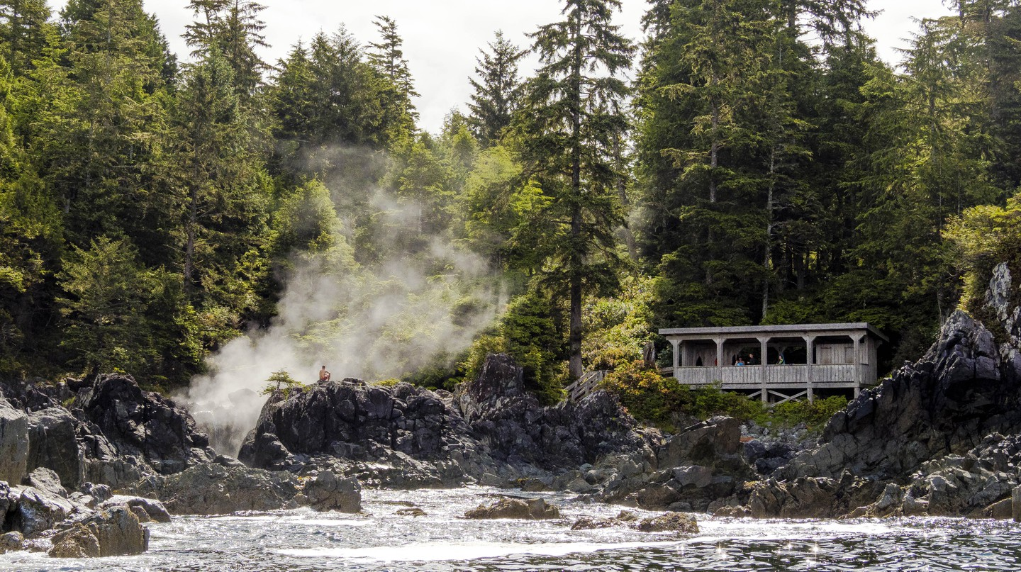 Pacific Rim National Park Reserve is well worth exploring – particularly for its hot springs at Hot Springs Cove in Tofino