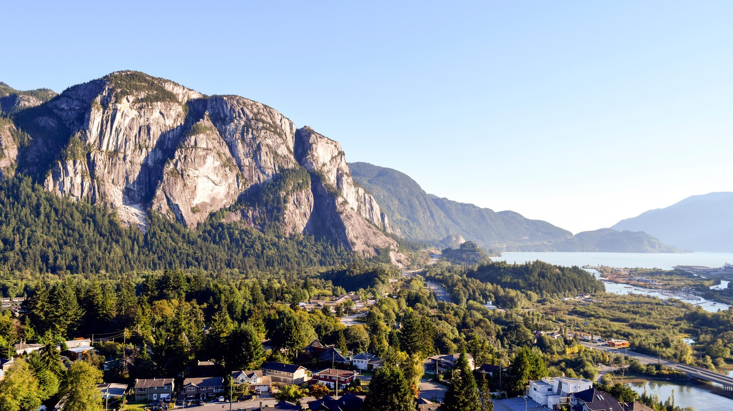 The Stawamus Chief in British Columbia is one of the world's largest granite monoliths
