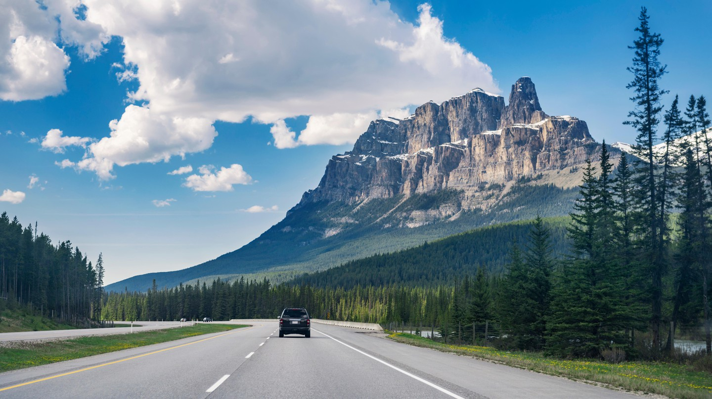 The Trans-Canada highway is considered one of the country's best roadtrips, and takes drivers through Alberta's spectacular Rockies in Banff Provincial Park