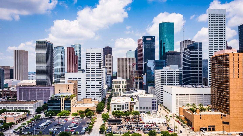 Downtown Houston, Texas, has an impressive skyline