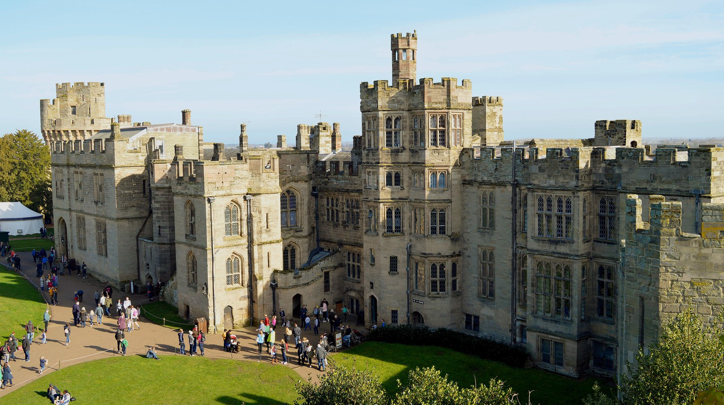 Warwick Castle in Warwickshire is one of the top castles to visit in England