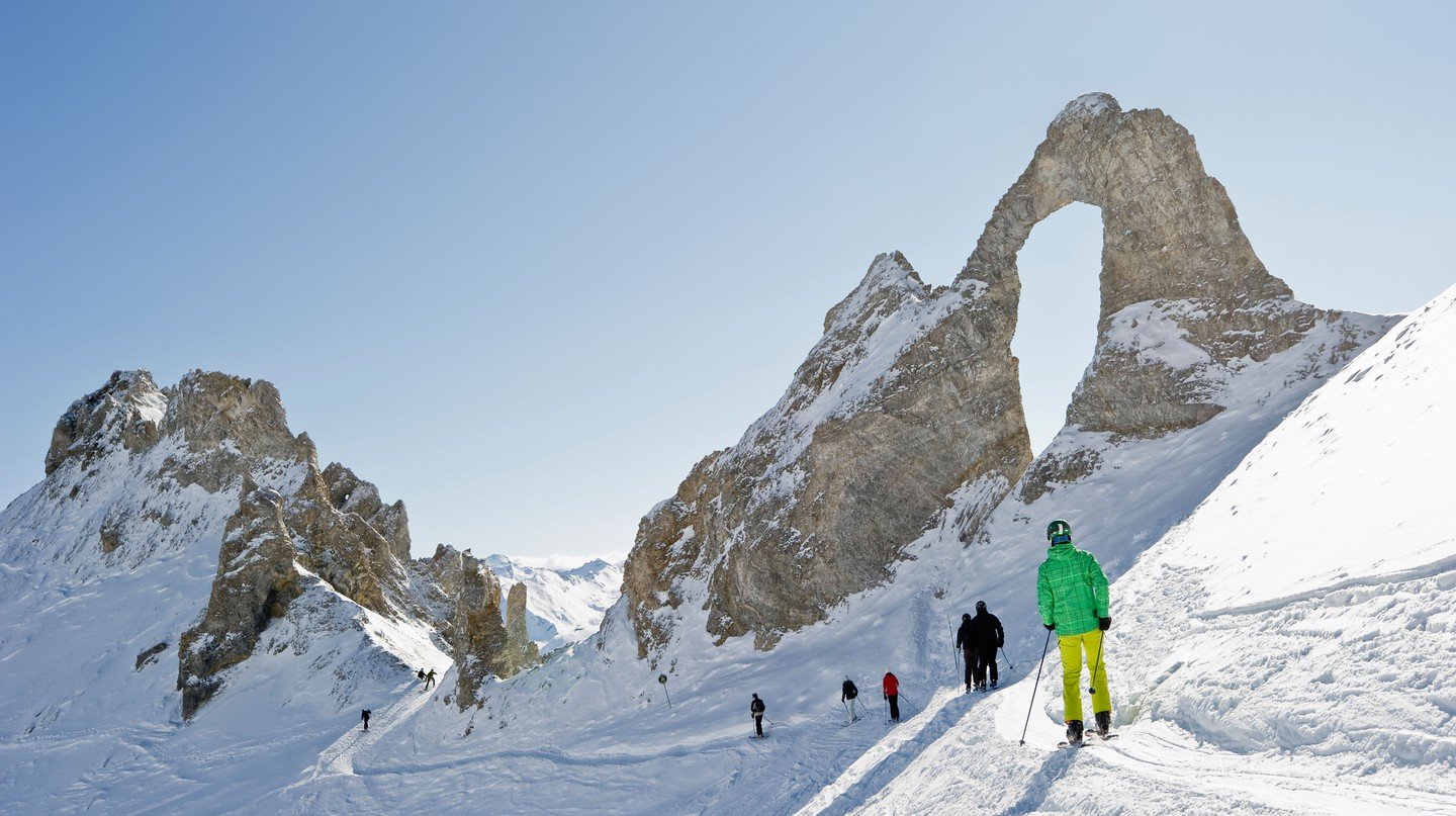 The chic French ski resort of Val d'Isère offers plenty to do both on and off the slopes