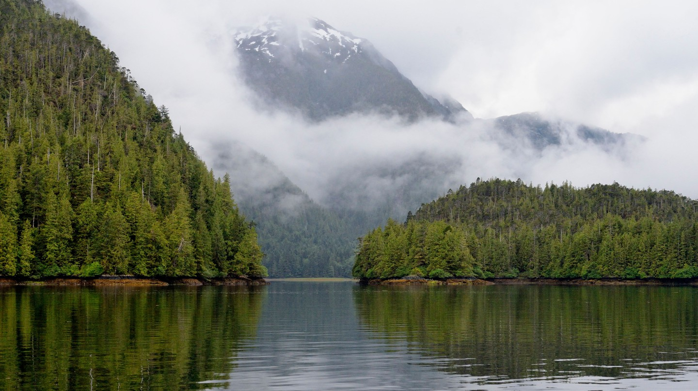 The dramatic scenery of the Charlotte Islands in British Columbia, Canada