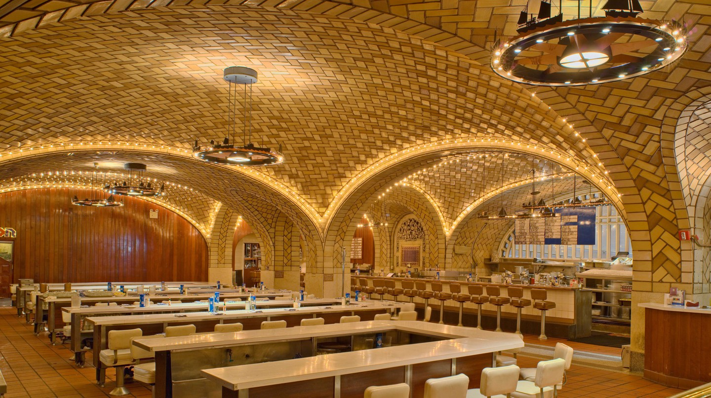Head for the Oyster Bar at Grand Central Station at rush hour and pair your meal with a good dose of people-watching