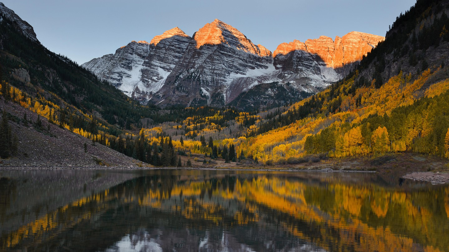 Aspen, Colorado, is brimming with golden colors in the fall