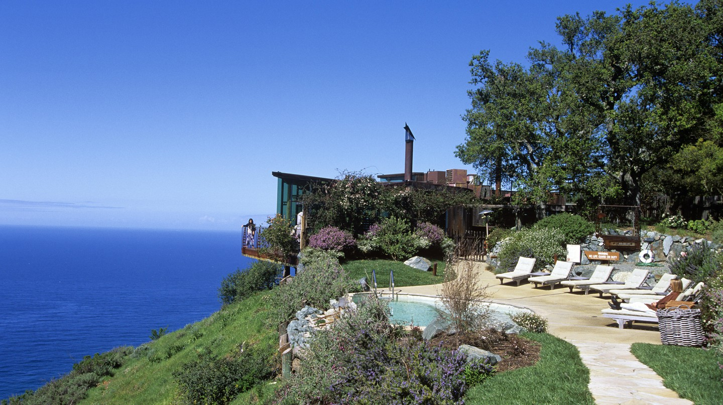 Post Ranch Inn hugs a cliffside overlooking the Pacific in Big Sur, California