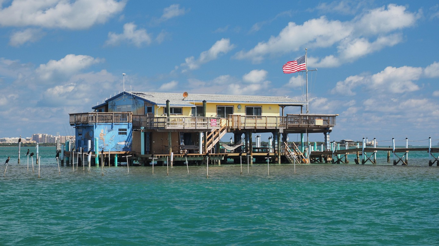 The wooden homes in Stiltsville were the fashionable place to be in the 1930s