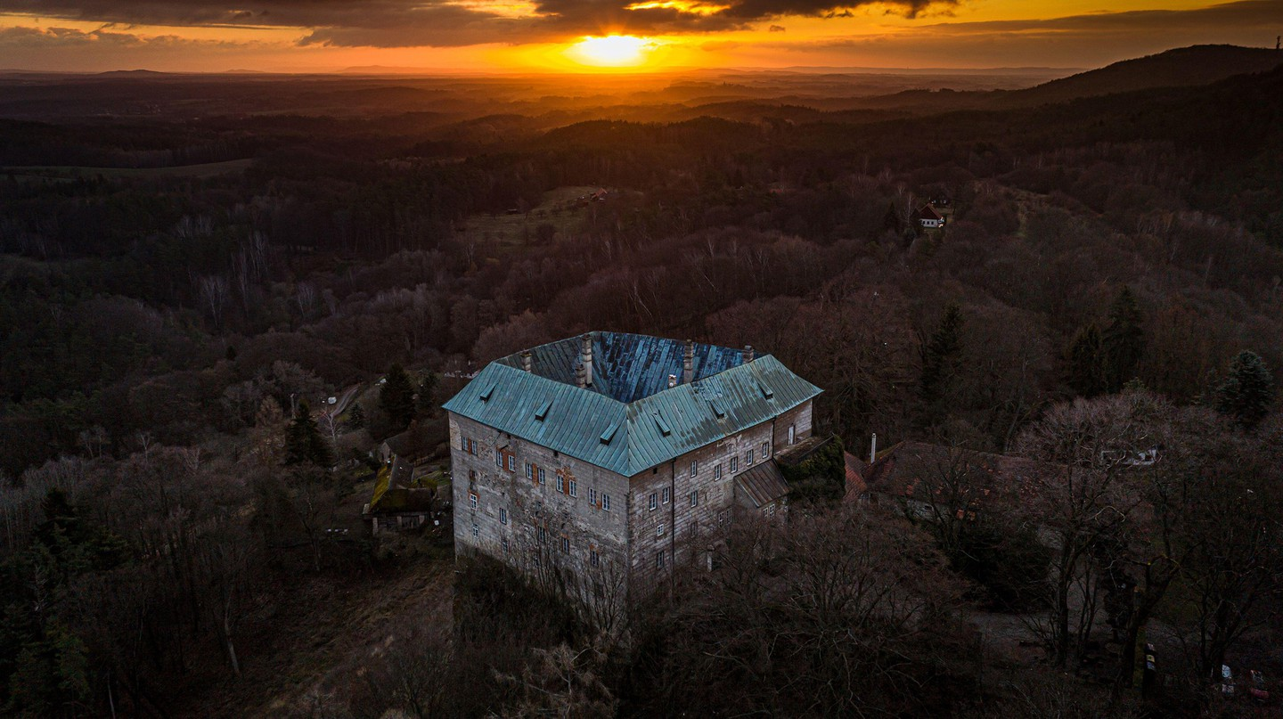 Beware of Houska Castle, an early Gothic castle on the outskirts of Prague, believed to have been built over a gateway to hell