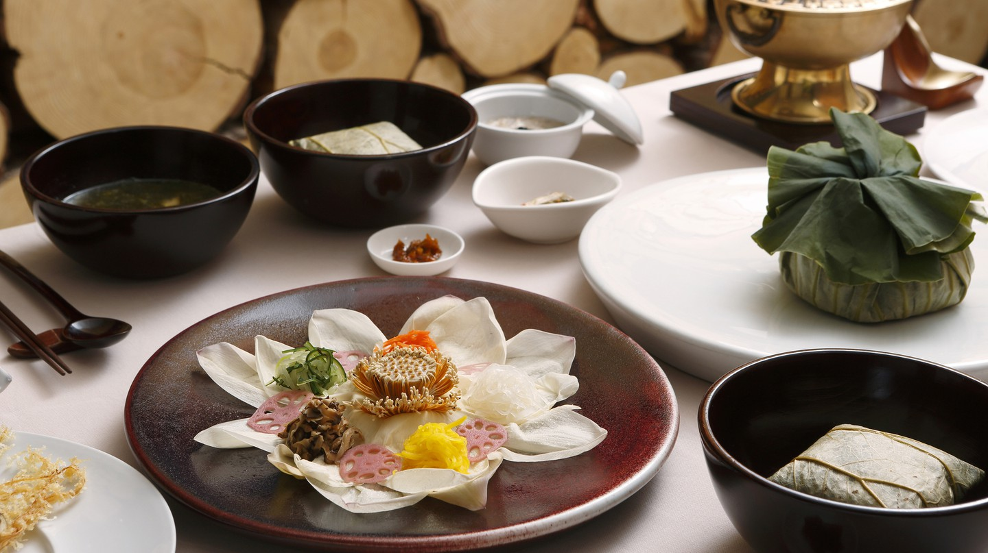 Korean temple food can be found in Buddhist temples across Korea