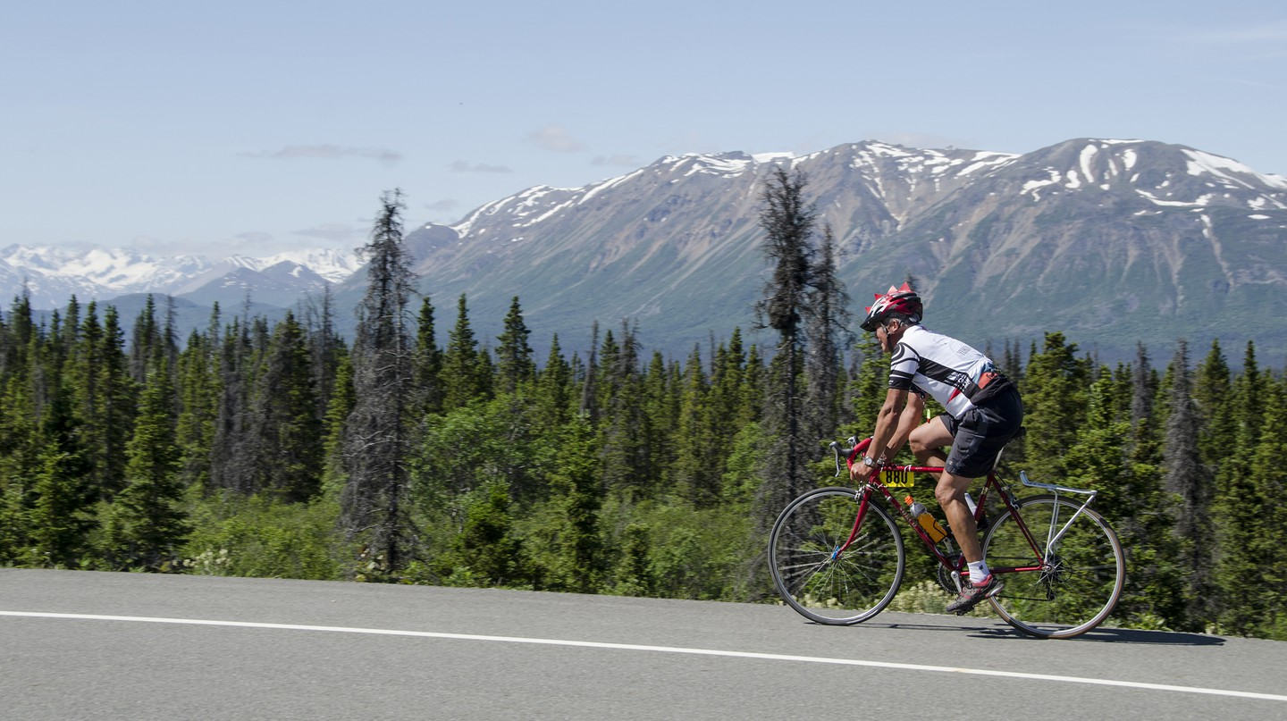 Take to the road on two wheels through Kluane National Park and enjoy the stunning scenery