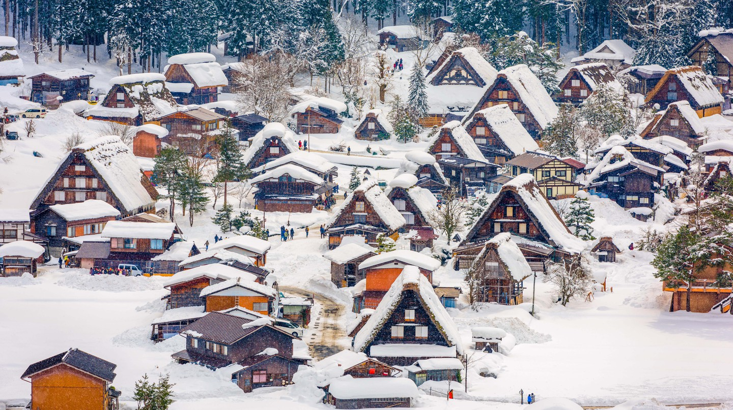 Shirakawa, in Japan, is a Unesco World Heritage Site