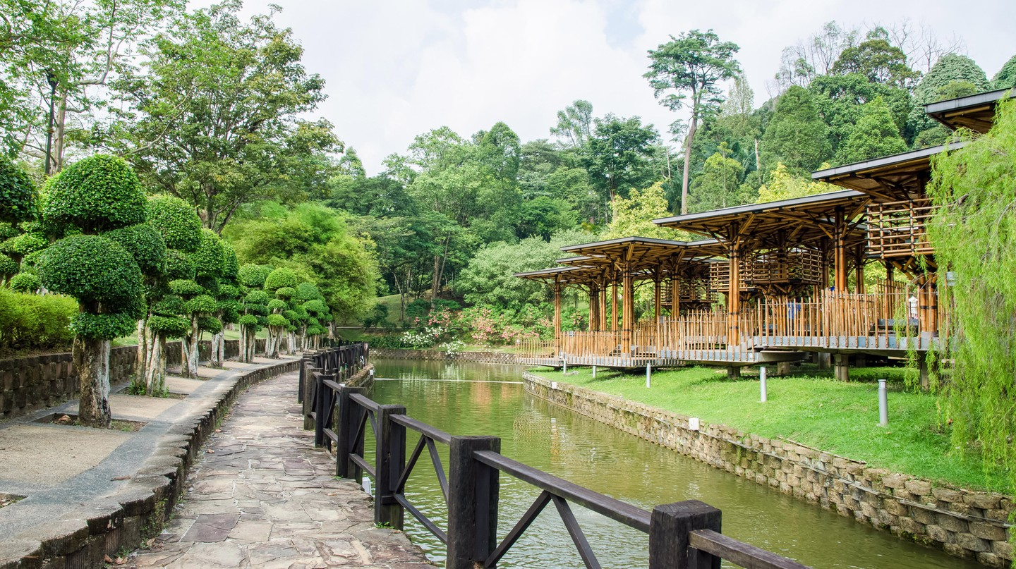 Eleena Jamil, who designed the Bamboo Playhouse in the Botanical Gardens, Kuala Lumpur, is rated one of the best Malaysian architects this century
