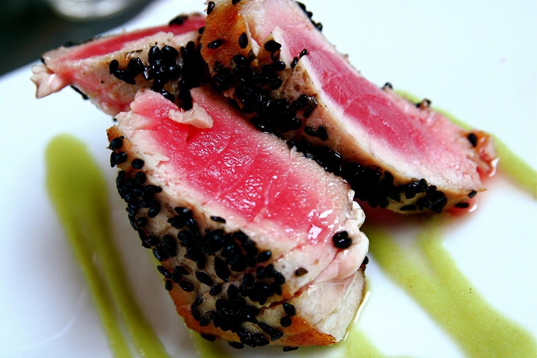 Seared Tuna with Sesame Seeds