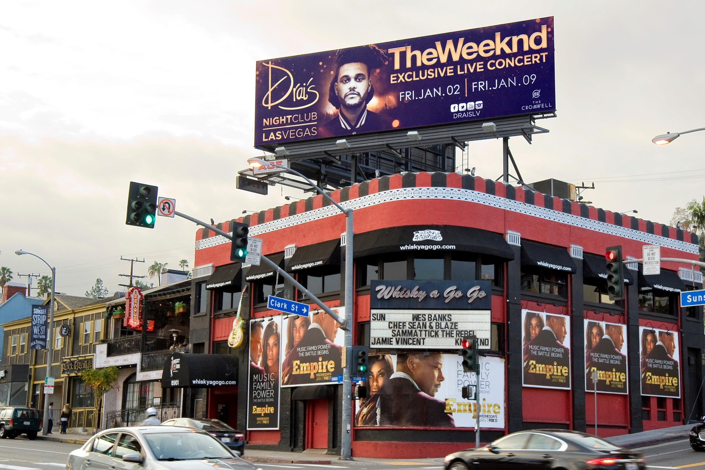 The Whisky A Go Go on the Sunset Strip in West Hollywood