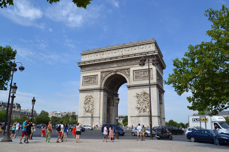 O Arco do Triunfo em Paris