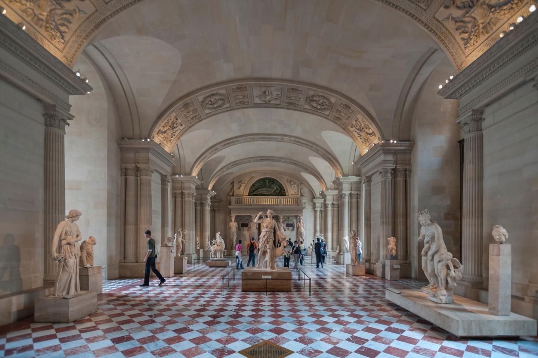 Museu do Louvre em Paris, França.