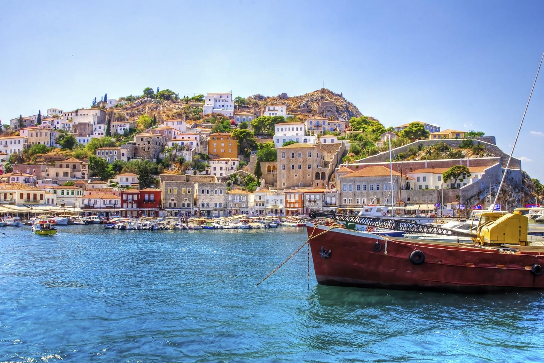 A view of the beautiful Greek island, Hydra