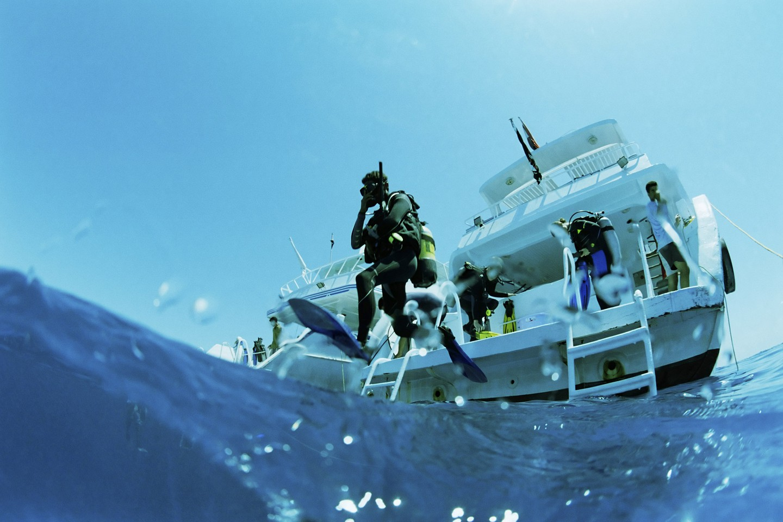 Go exploring underwater
