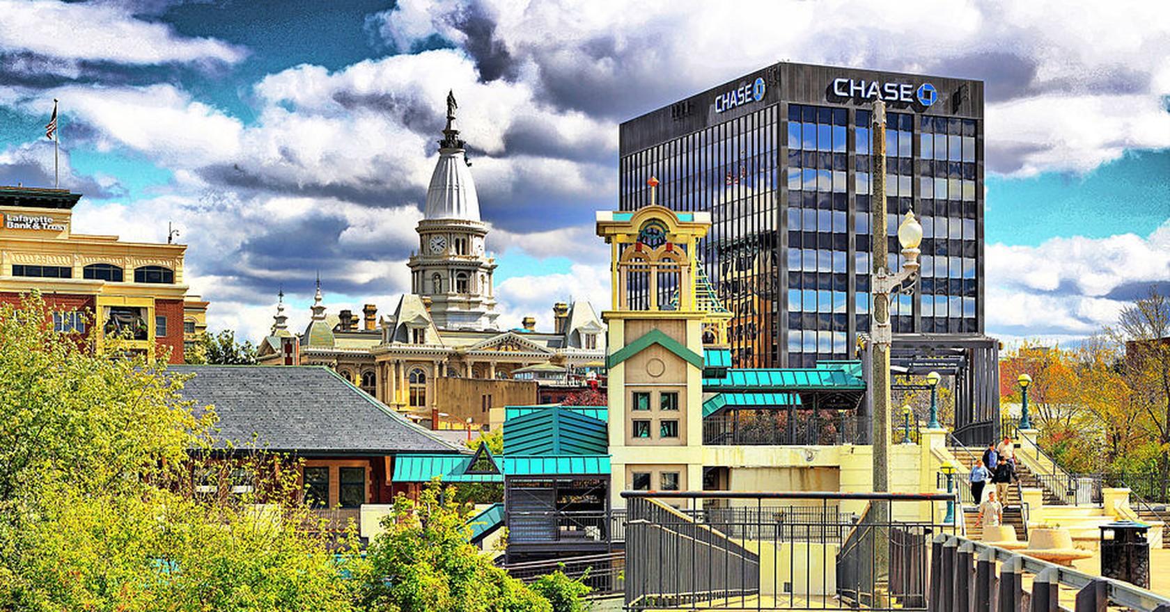 Downtown Lafayette Indiana John Schanlaub Wikicommons