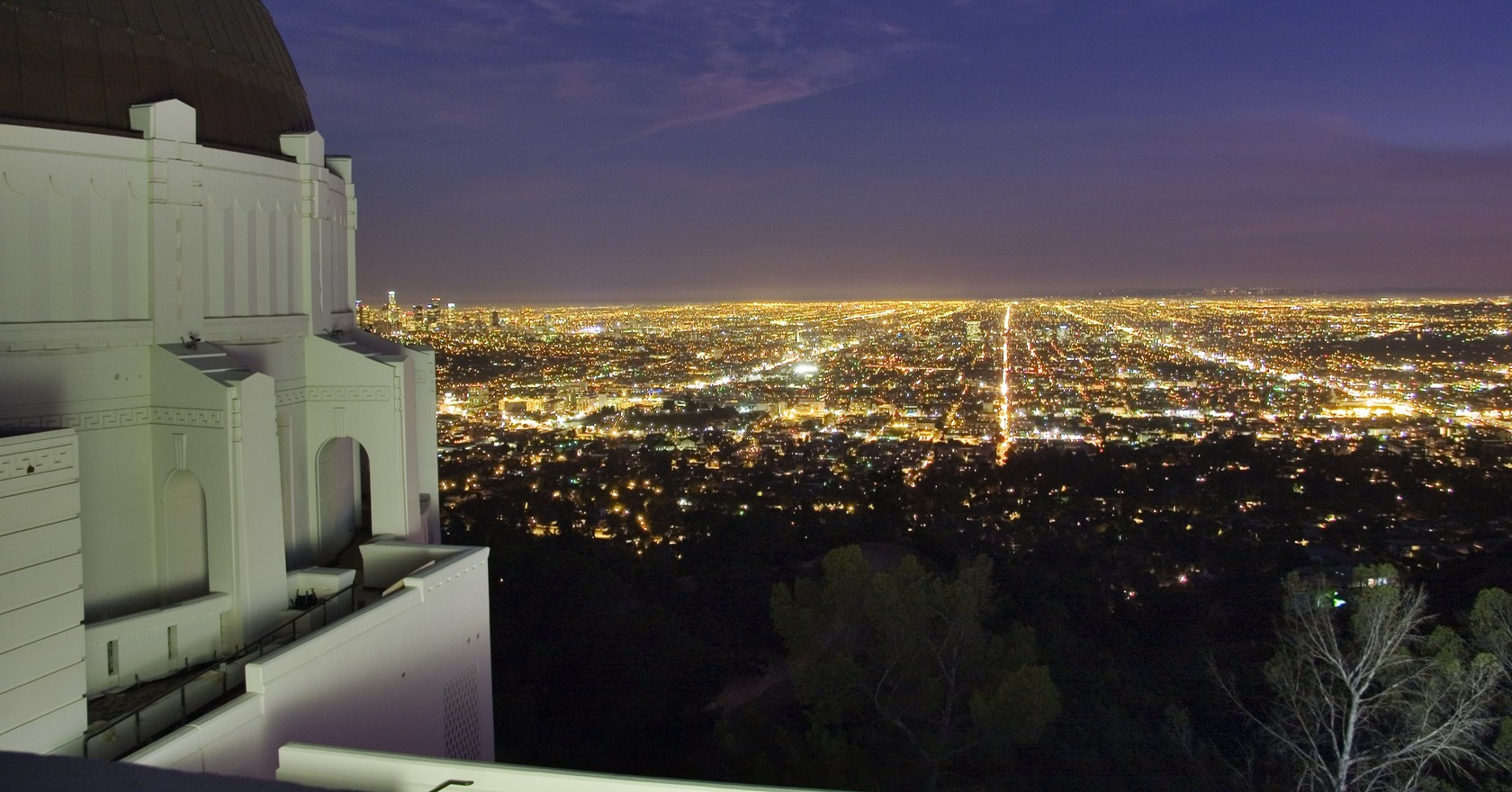 View From The Top Of Griffith Observatory Courtesy